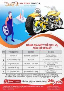 Bảng báo giá các dịch vụ cứu hộ xe máy tại An Bình Motor
